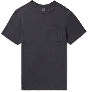 J.Crew - Slim-Fit Garment-Dyed Slub Cotton-Jersey T-Shirt - Men - Navy