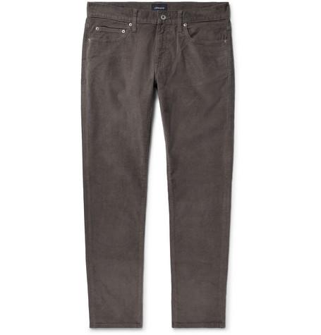 J.Crew - Slim-Fit Stretch-Cotton Corduroy Trousers - Men - Charcoal