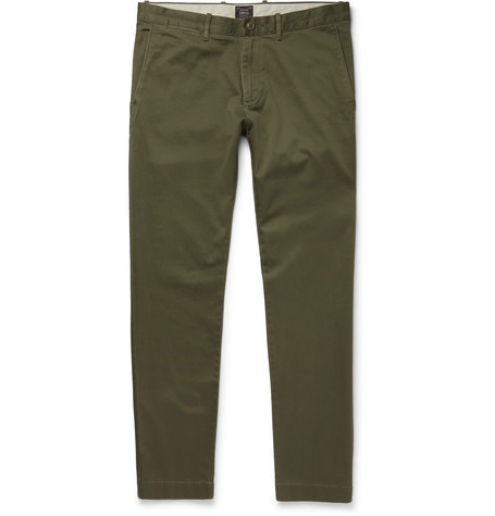 J.Crew - Stretch-Cotton Twill Chinos - Men - Green