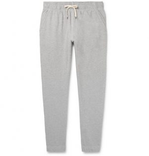J.Crew - Tapered Mélange Loopback Cotton-Jersey Sweatpants - Men - Gray