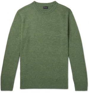 J.Crew - Wool-Blend Sweater - Men - Green