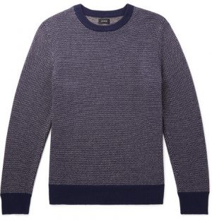 J.Crew - Wool-Blend Sweater - Men - Navy