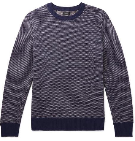 J.Crew - Wool-Blend Sweater - Men - Navy