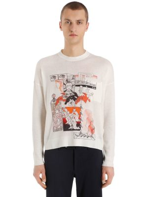 James Jean Dna Cashmere Knit Sweater