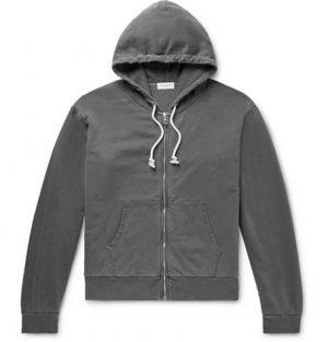 John Elliott - Cotton-Jersey Zip-Up Hoodie - Men - Charcoal
