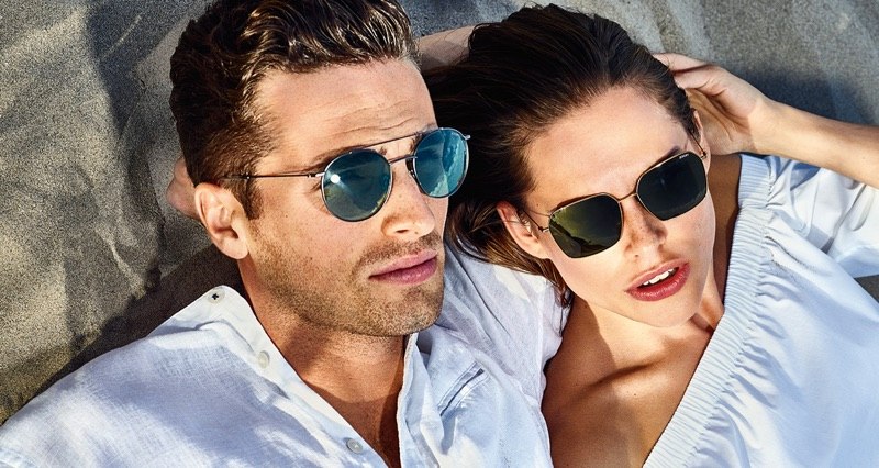 Connecting with JOOP!, Edward Wilding and Lana Zakocela front the brand's spring-summer 2019 campaign.