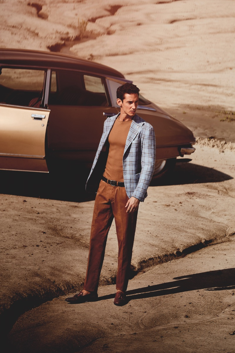 Andrey Smidl takes to the desert for L.B.M. 1911's spring-summer 2019 campaign.