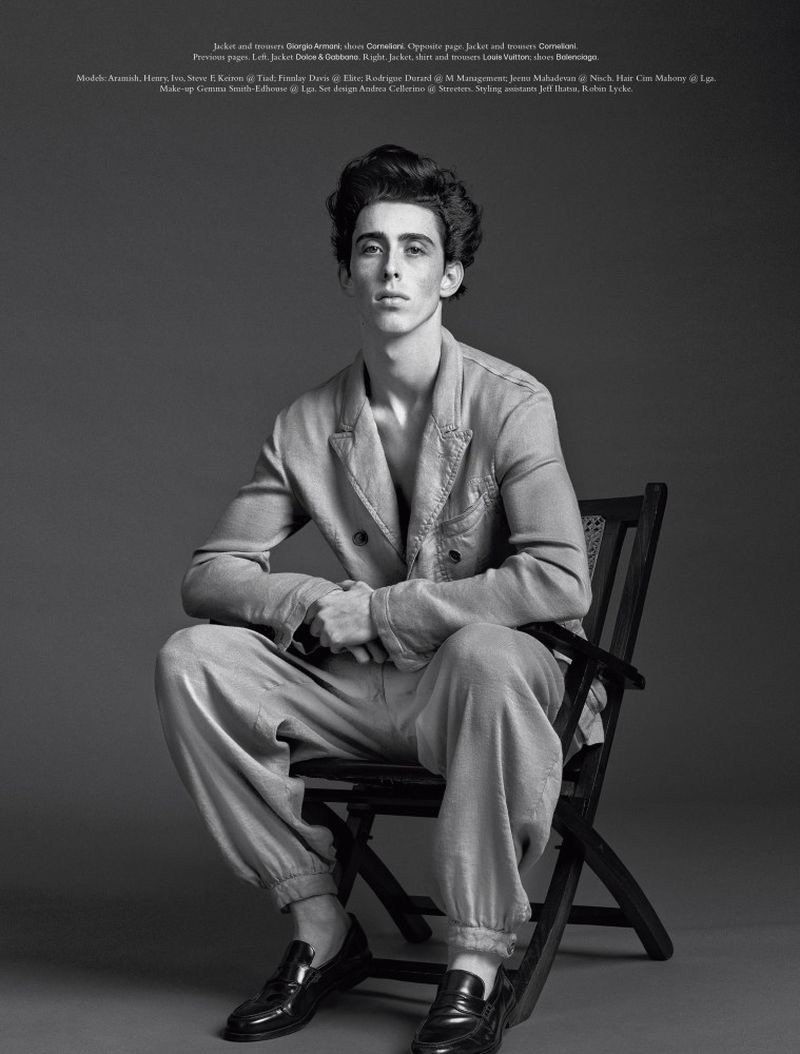 Henry Kitcher, Rodrigue Durard + More Model Luxe Style for L'Uomo Vogue