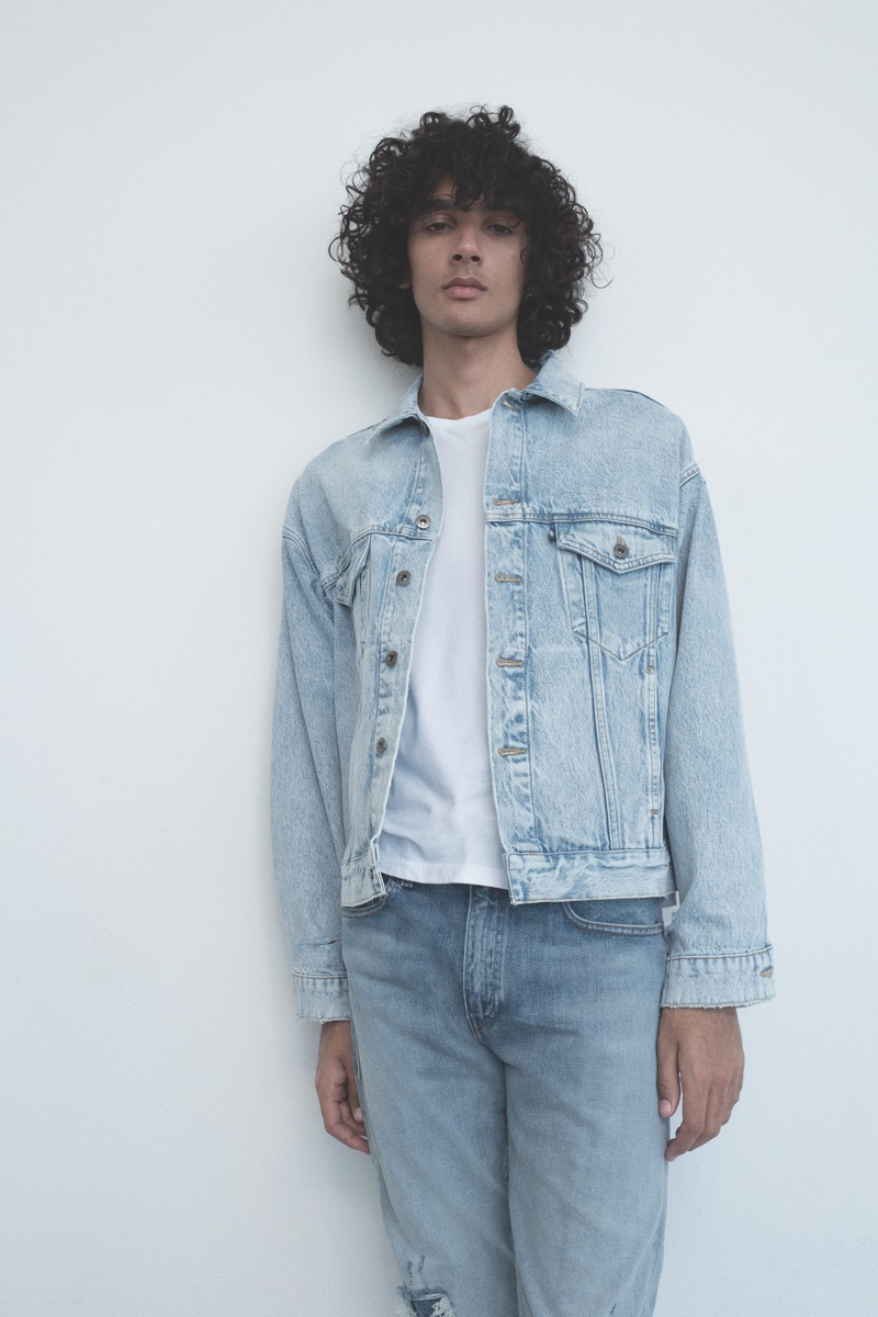 Callum Stoddart sports a denim look from the new Levi's Made & Crafted collection.