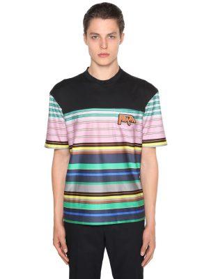 Light Cotton Striped T-shirt W/logo