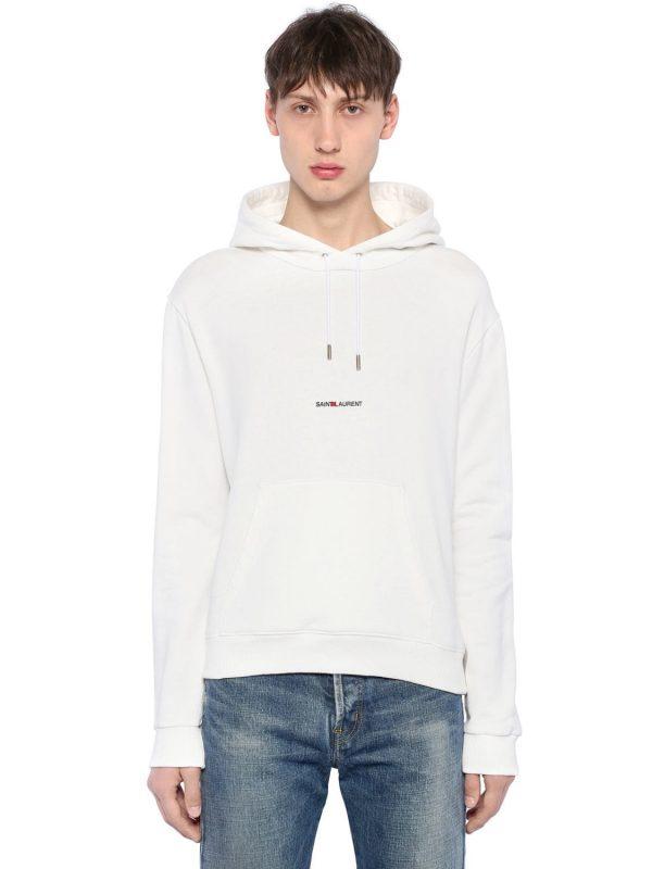 Logo Detail Hooded Jersey Sweatshirt