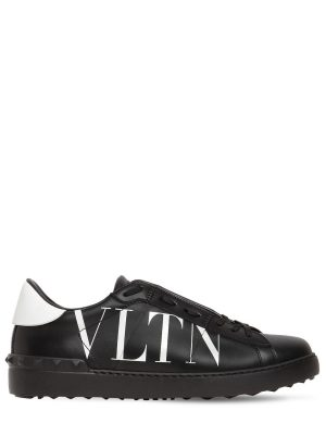 Logo Leather Sneakers W/ Studs