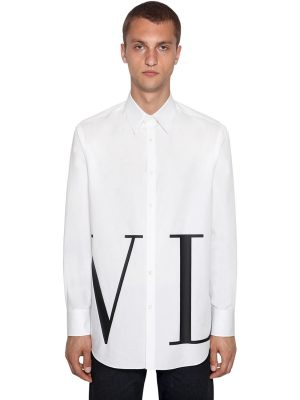 Logo Print Cotton Shirt