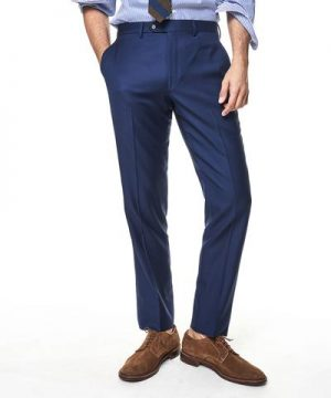 Made In The USA Sutton Wool Twill Suit Trouser In Blue