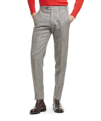 Made in USA Wool Houndstooth Suit Trouser