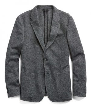 Made in the USA Sutton Unconstructed Sport Coat in Cashmere Charcoal Tweed