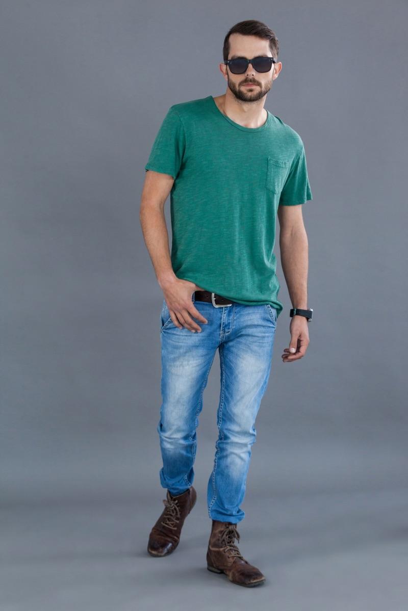 Man TShirt Jeans