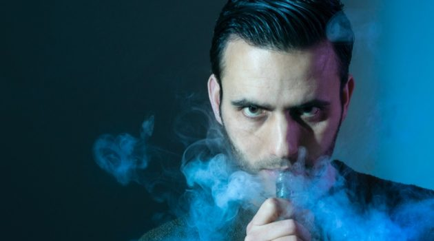 Man With Vape Pen & Smoke