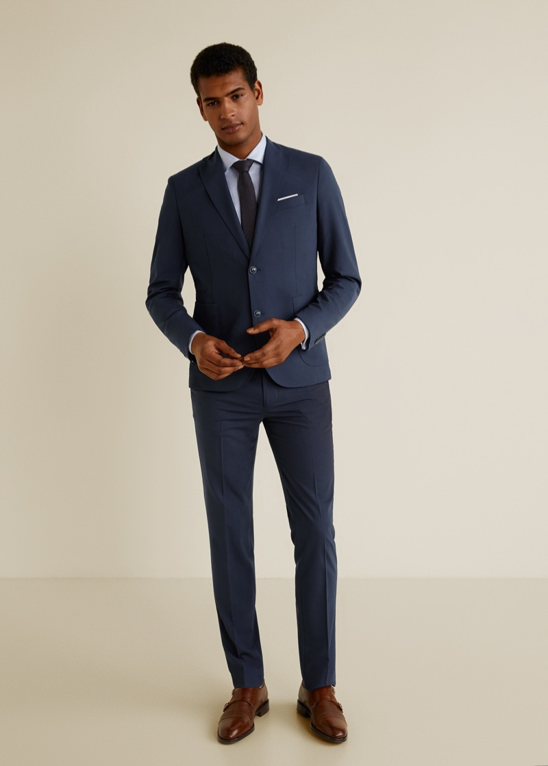 Tidiou M'Baye sports Mango's travel suit.