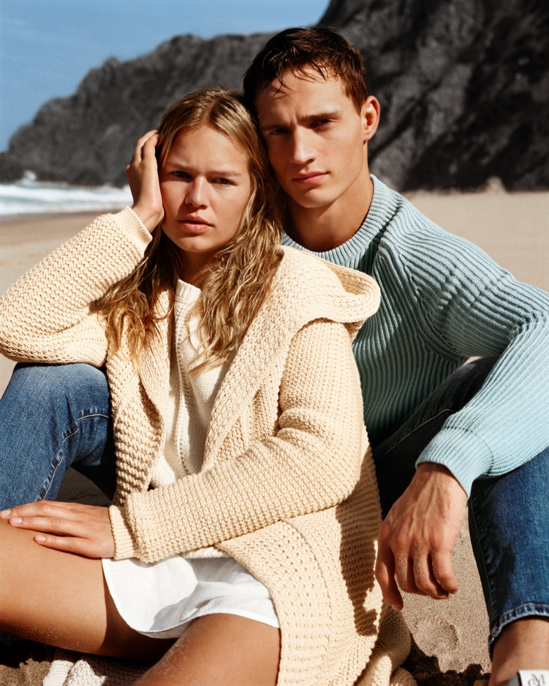 Anna Ewers and Julian Schneyder come together for Marc O'Polo's spring-summer 2019 campaign.