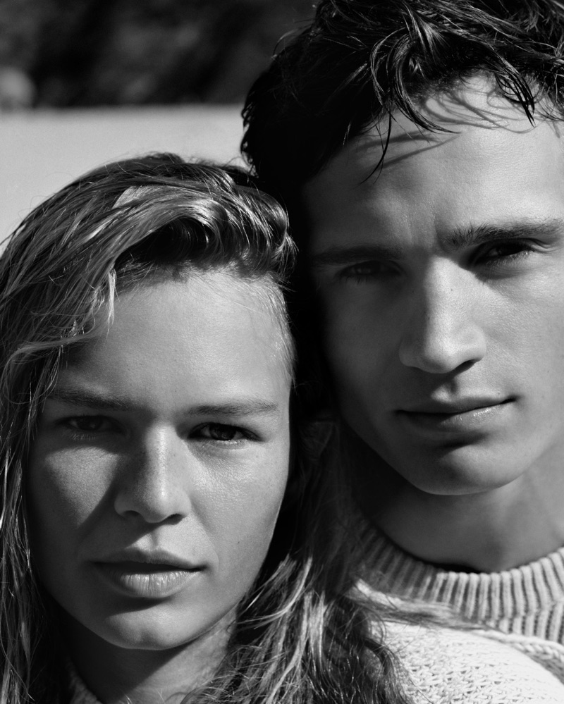 Alasdair McLellan photographs Anna Ewers and Julian Schneyder for Marc O'Polo's spring-summer 2019 campaign.