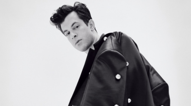 Sporting a Raf Simons coat, Mark Ronson appears in a photo shoot.