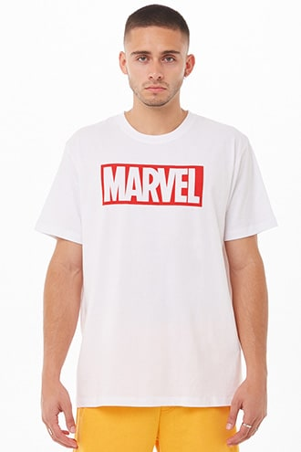 Marvel Graphic Tee by 21 MEN White/red