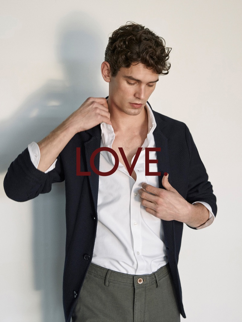 Arthur Gosse wears smart menswear separates by Massimo Dutti.