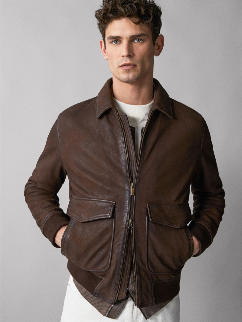 French model Arthur Gosse showcases a new look from Massimo Dutti.