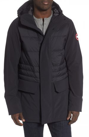 Men's Canada Goose Breton 675-Fill Power Down Coat, Size Small - Black