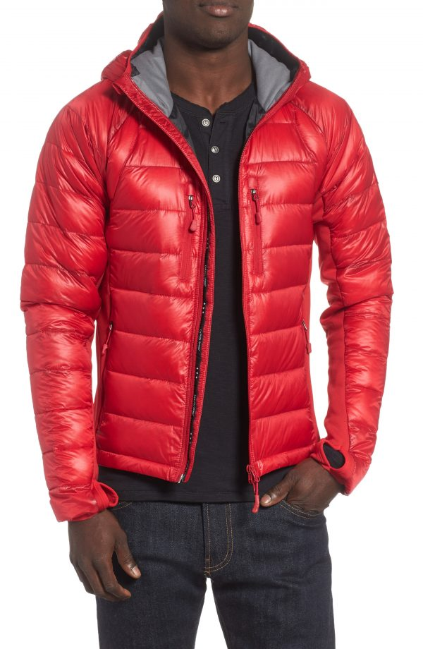 Men's Canada Goose 'Hybridge(TM) Lite Hoody' Slim Fit Packable Jacket, Size Small - Red