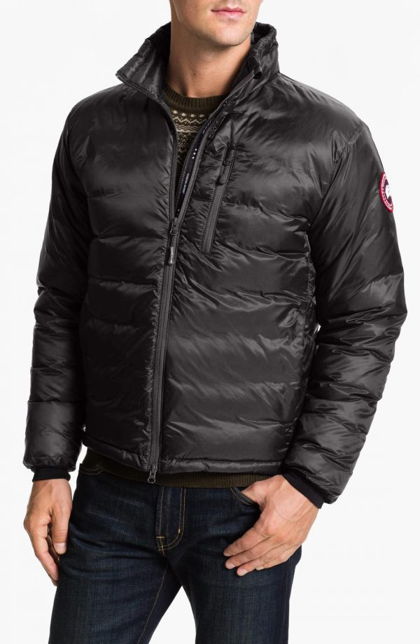 Men's Canada Goose 'Lodge' Slim Fit Packable Windproof 750 Down Fill Jacket, Size Small - Grey