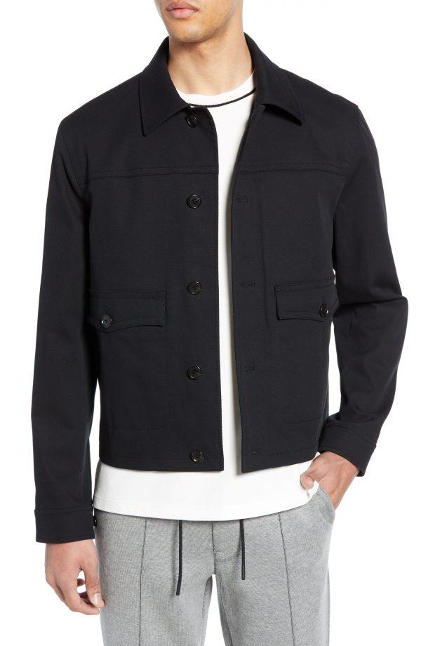Men's Club Monaco Short Jacket, Size X-Large - Black