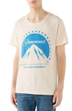 Men's Gucci Paramount Logo T-Shirt, Size Small - Ivory