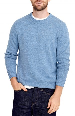 Men's J.crew Rugged Merino Wool Blend Sweater, Size Small - Blue
