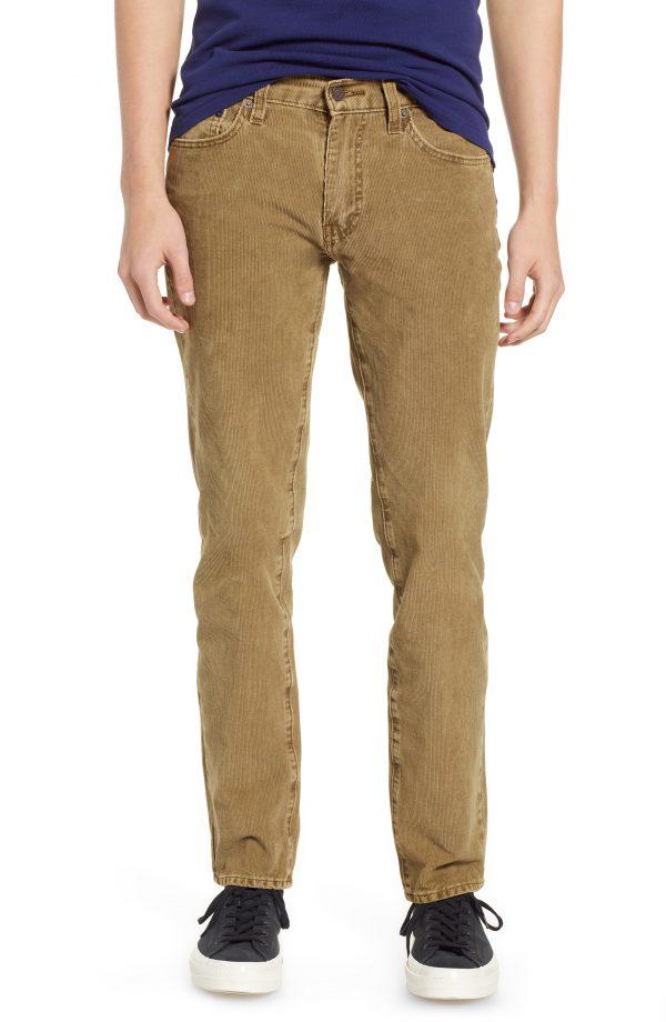 Men's Levi's 511(TM) Slim Fit Corduroy Pants, Size 29 x 32 - Brown