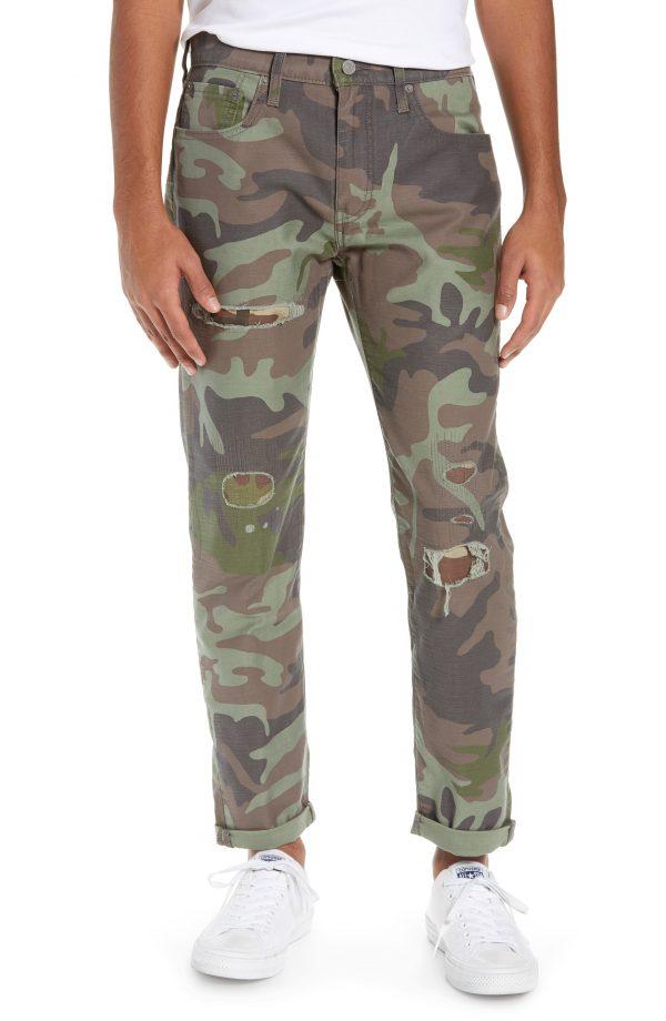 Men's Levi's Hi-Ball Straight Leg Camo Pants, Size 29 x 32 - Green