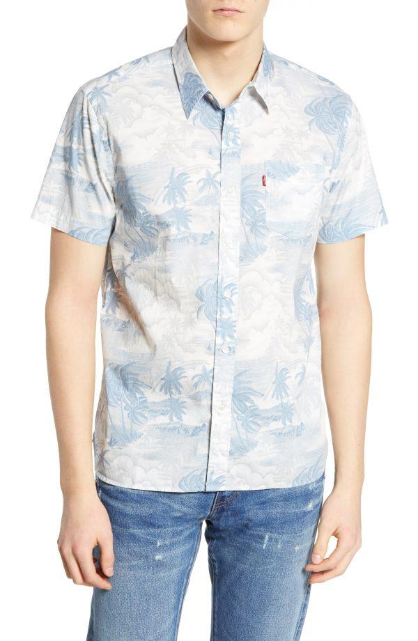 Men's Levi's Sunset Woven Shirt, Size Small - Blue