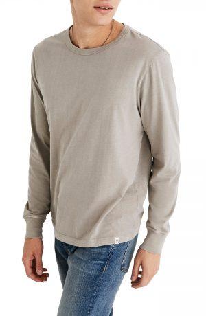 Men's Madewell Long Sleeve Slim T-Shirt, Size Small - Green