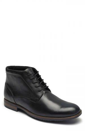 Men's Rockport Dustyn Waterproof Chukka Boot, Size 7.5 M - Black