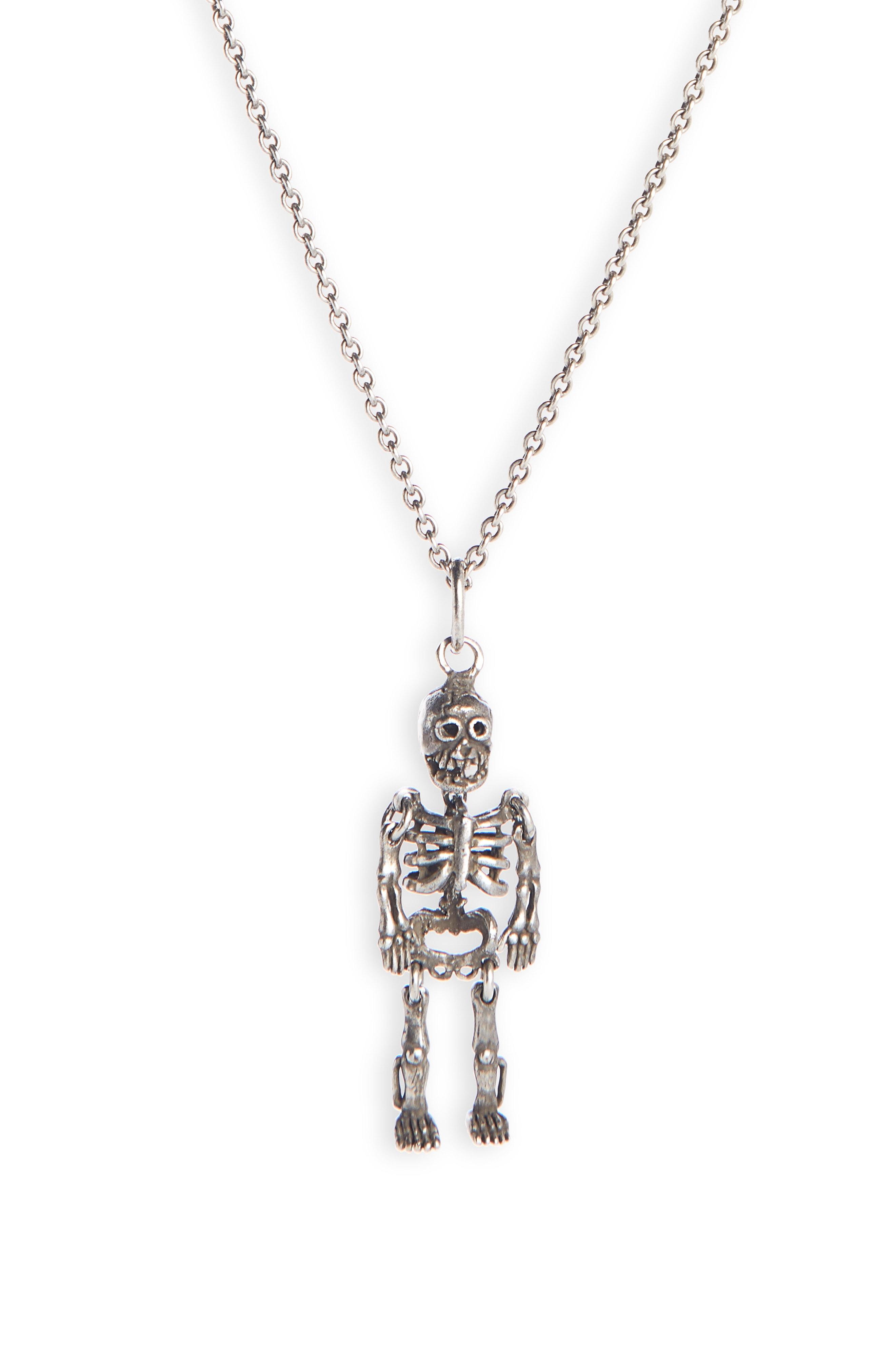 57cdfd477bd Men's Saint Laurent Skeleton Pendant Necklace | The Fashionisto