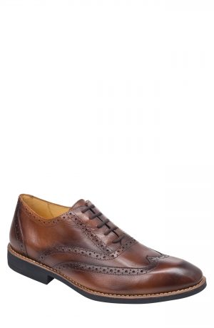 Men's Sandro Moscoloni Mercer Wingtip, Size 8 D - Brown