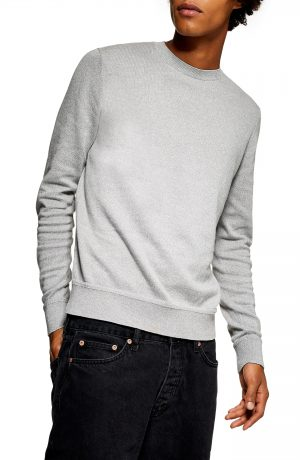 Men's Topman Marl Crewneck Sweater, Size X-Large - Ivory