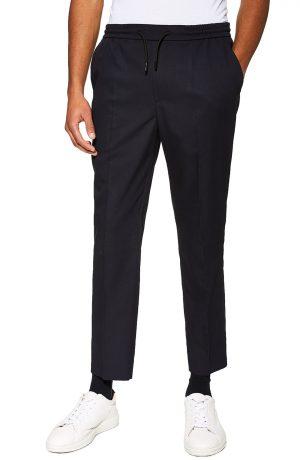 Men's Topman Slim Fit Cropped Jogger Pants, Size 32 x 32 - Blue