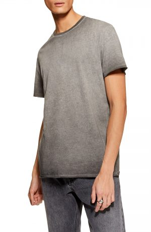 Men's Topman Smoked Classic Fit T-Shirt, Size Large - Grey
