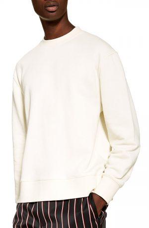 Men's Topman Tristan Sweatshirt, Size Medium - Ivory