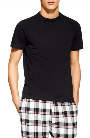 Men's Topman Two-Piece Pajama Set, Size Small/Medium - Black