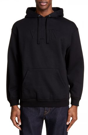 Men's Valentino Cotton Blend Hoodie, Size XX-Large - Black