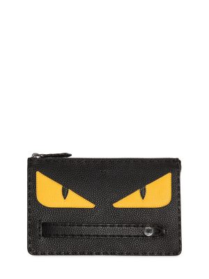 Monster Textured Leather Pouch