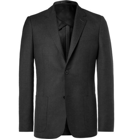 Mr P. - Grey Unstructured Worsted Wool Blazer - Men - Gray